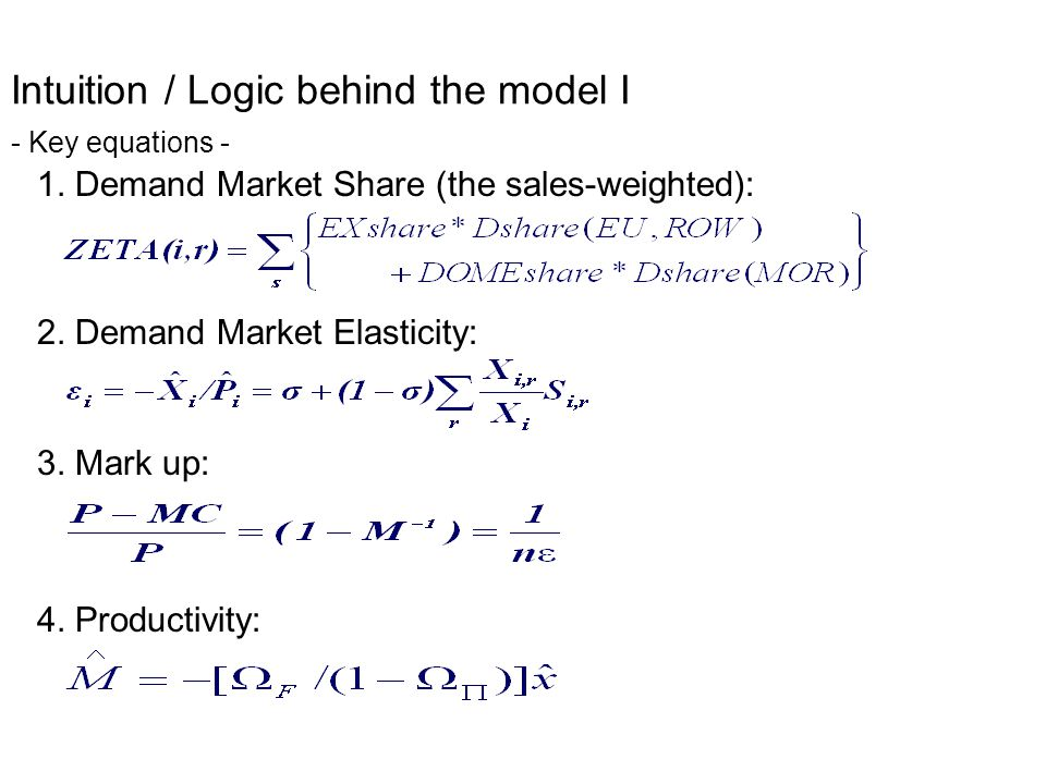 Intuition / Logic behind the model II - Graphic -