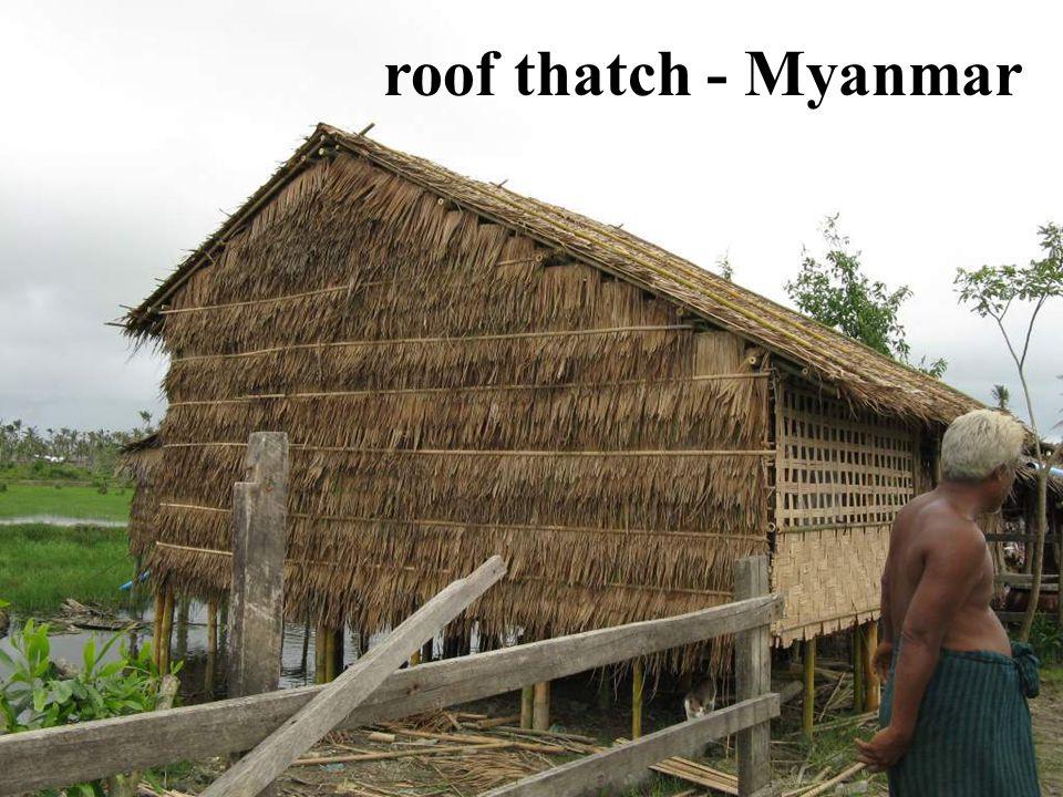 roof thatch - Myanmar