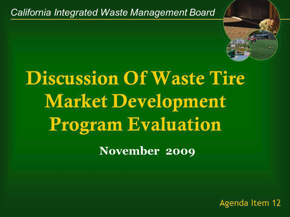 California Integrated Waste Management Board Agenda 1.