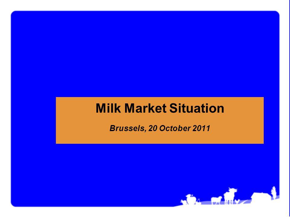 Milk Market Situation Brussels, 20 October 2011