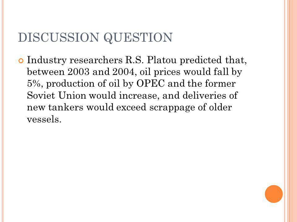 DISCUSSION QUESTION Industry researchers R.S.