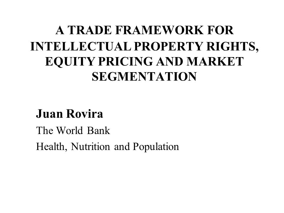 PRODUCT FLOWS IN THE PROPOSED MODEL OF MARKET SEGMENTATION O O O O HIGH INCOME CONTRIES INTERMEDIATE INCOME COUNTRIES LOW INCOME COUNTRIES