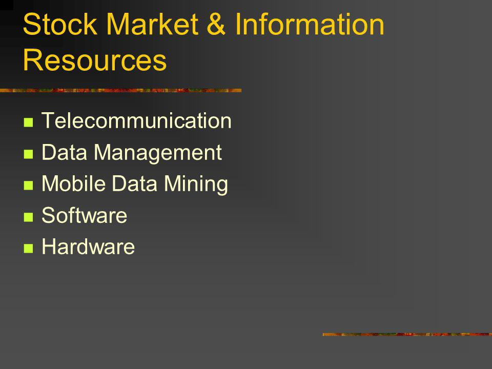 So… What is the correlation between the Stock Market and Information Resource Management? Lets find out!!