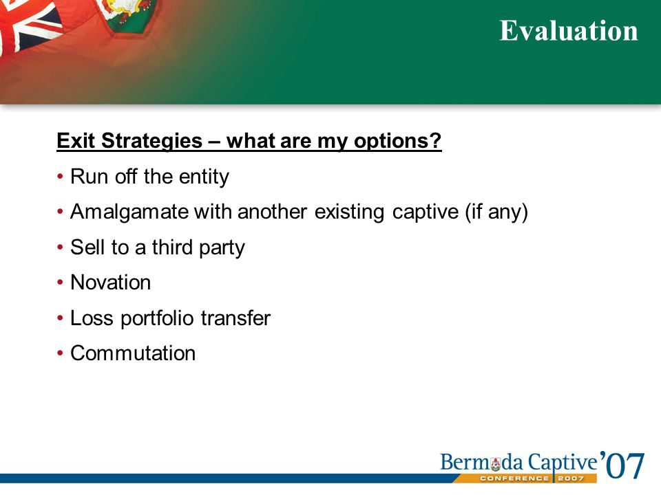 Exit Strategies – what are my options.