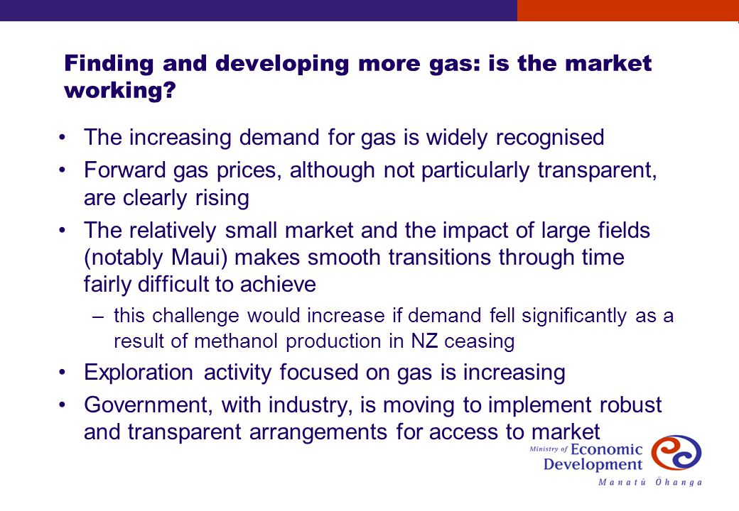 Finding and developing more gas: is the market working.