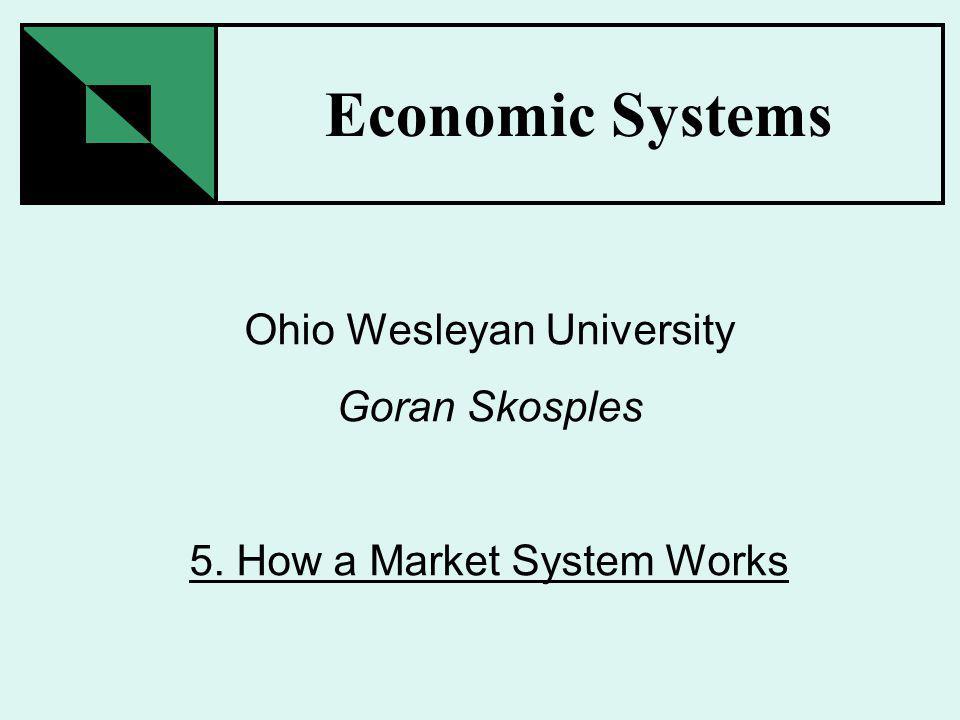 Economic Systems Ohio Wesleyan University Goran Skosples 5. How a Market System Works