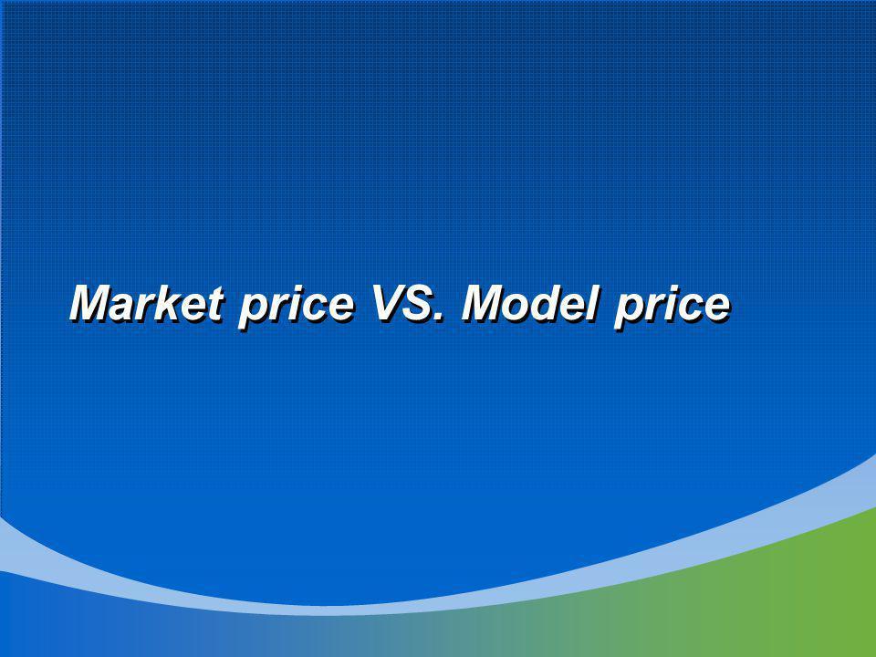 Market price VS. Model price