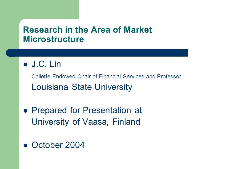 U.S.Options Markets The options market in U.S.