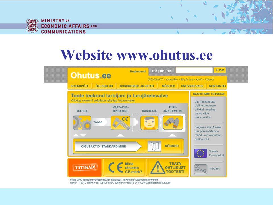Website www.ohutus.ee