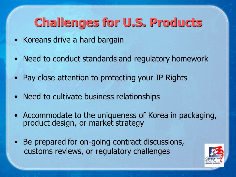 Challenges for U.S.