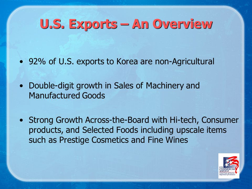 U.S. Exports – An Overview 92% of U.S.