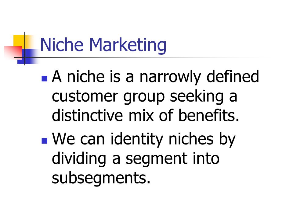 Customers in the niche market will pay a premium to the firm that best satisfies their needs.