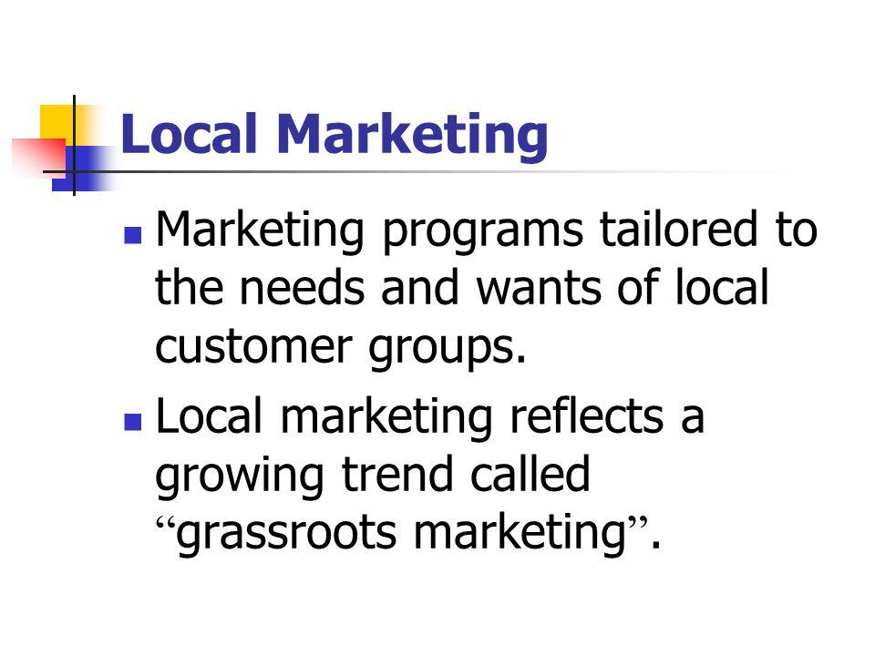 Local Marketing cont.