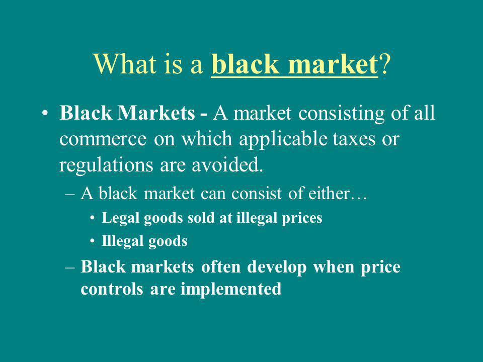 How do Price Controls Lead to Black Markets.