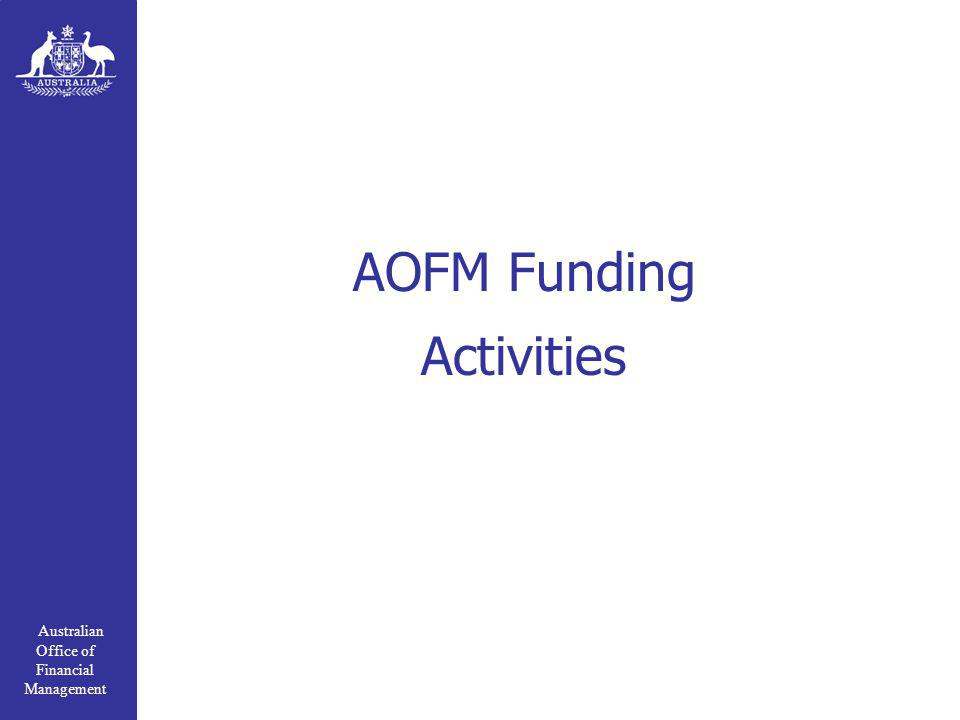 Australian Office of Financial Management AOFM Funding Activities
