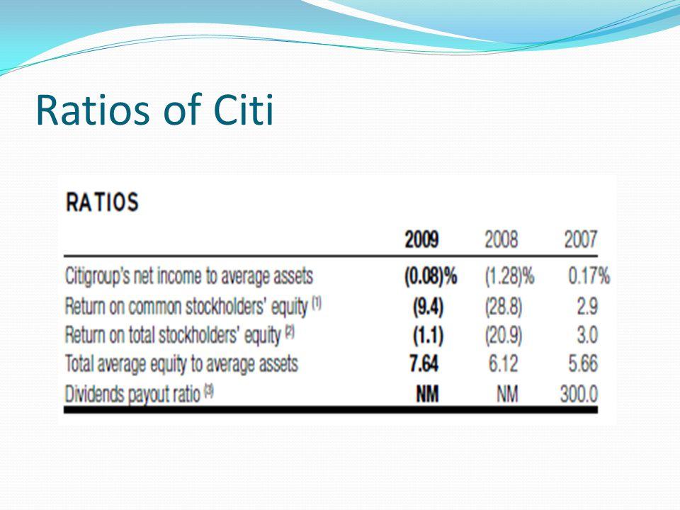 Ratios of Citi