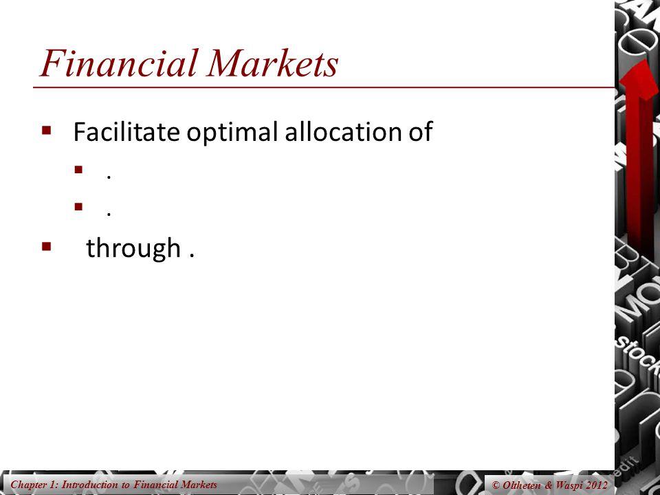 Chapter 1: Introduction to Financial Markets © Oltheten & Waspi 2012 Returns Mechanism Normal Return.
