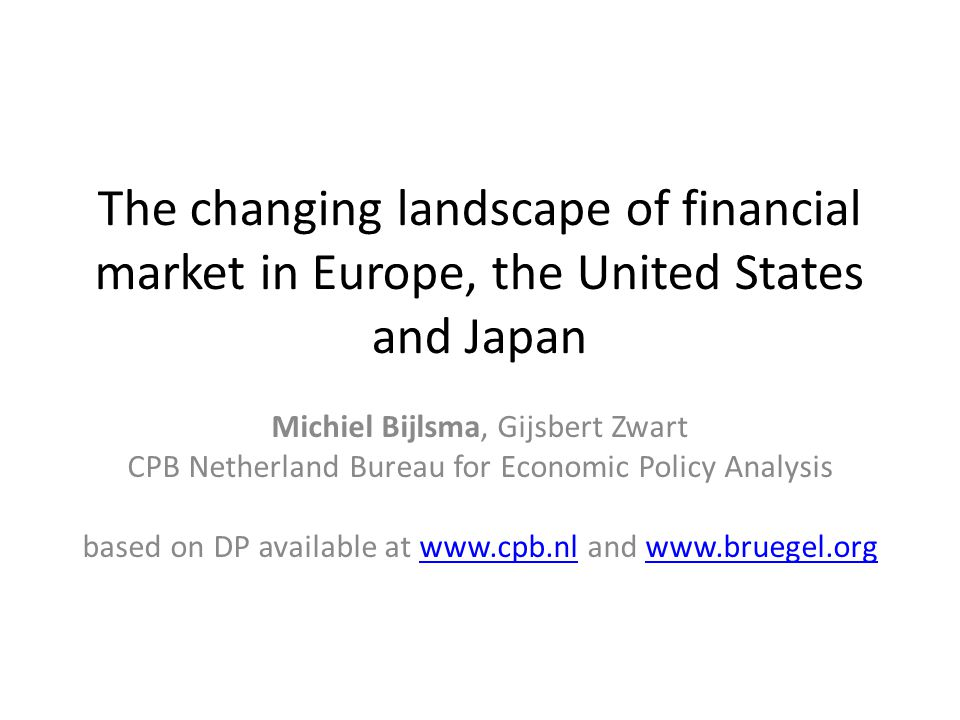 Motivation Supposed relation between financial market structure (market-based versus bank-based) and growth or stability – More R&D and innovation in equity financed markets – Bank-based financing more stable through the cycle, but suffers more in banking crisis – Market-based financing spare tire during crisis, but may be more volatile But analysis should start with classification