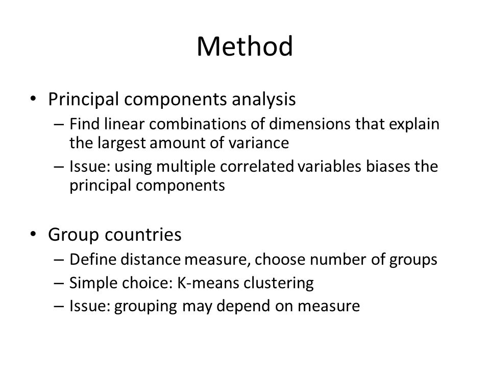 Method To group countries, we used the following indicators