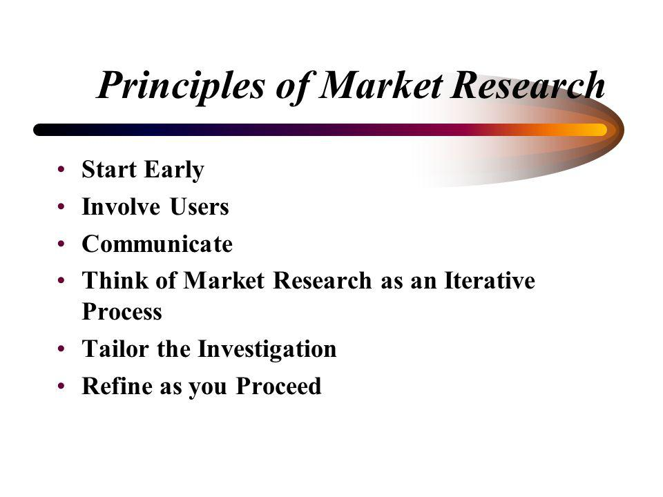 How do You do Market Research? Analyze results of market research –Support commerciality decision –Translate market research findings into PWS require
