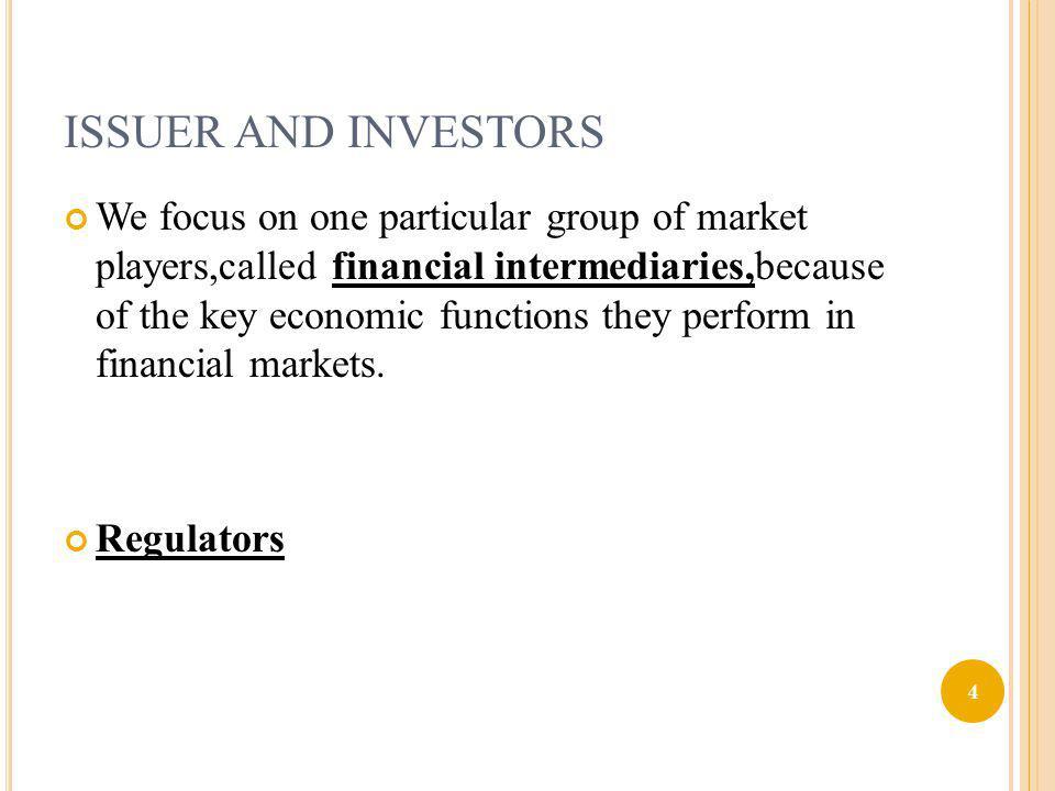 C ONT D I.Providing maturity intermediation II. Risk reduction via diversification III.