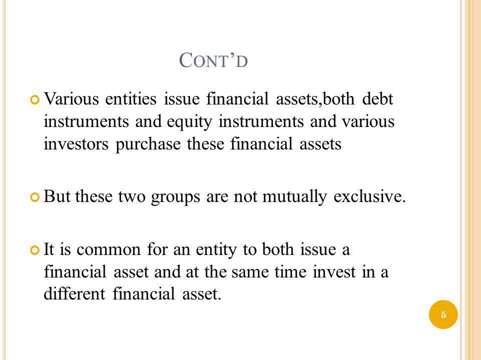 1.Financial Activity Regulation 2. Disclosure Regulation 3.
