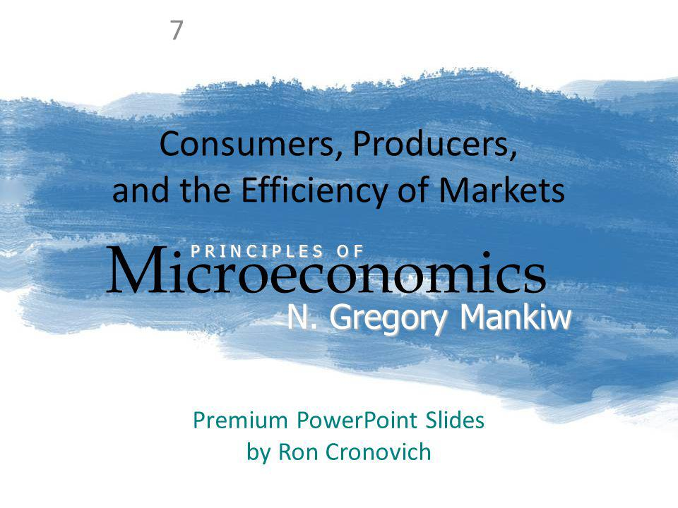 CONSUMERS, PRODUCERS, AND THE EFFICIENCY OF MARKETS 12 CS and the Demand Curve P Q Fleas WTP Anthonys WTP Instead, suppose P = $220 Fleas CS = $300 – 220 = $80 Anthonys CS = $250 – 220 = $30 Total CS = $110
