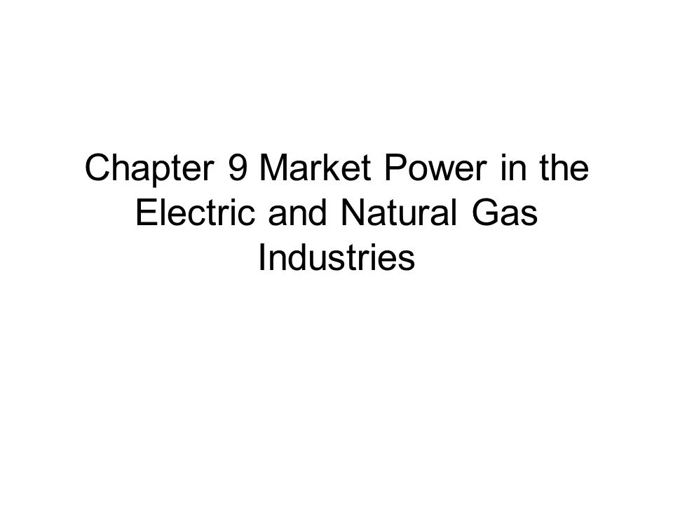 9.1 Introduction That a firm has market power simply means: it has the ability to affect market prices.