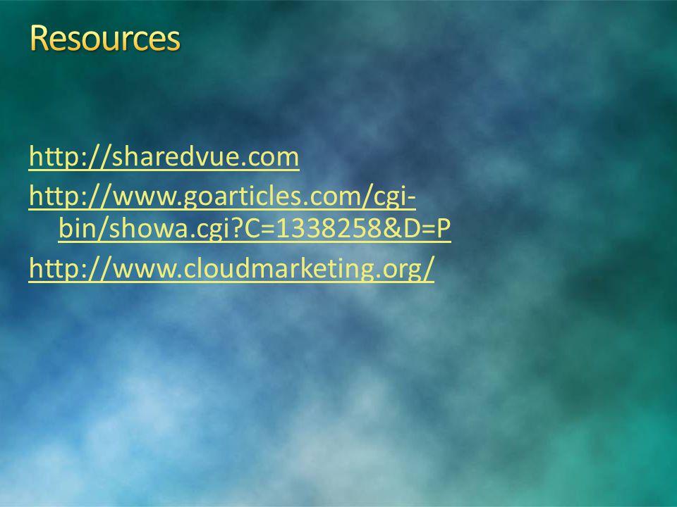 http://sharedvue.com http://www.goarticles.com/cgi- bin/showa.cgi C=1338258&D=P http://www.cloudmarketing.org/