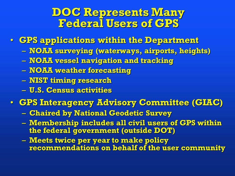 Civilian & Scientific Uses of GPS