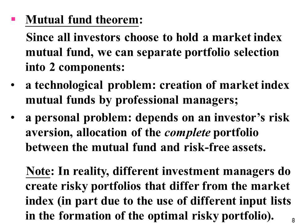 9 Model implication 3: Risk premium on M The risk premium on the market portfolio will be proportional to its risk and the degree of risk aversion of the representative investor: where E(r M ): expected return on M : variance of M : average degree of risk aversion across investors