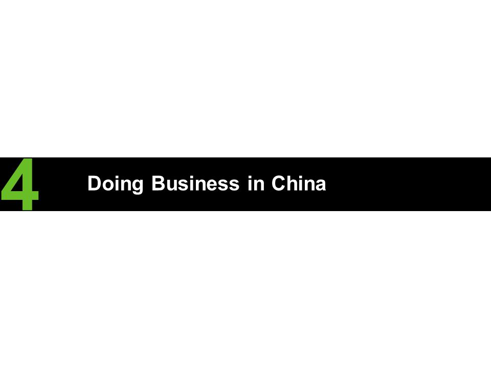 Doing Business in China 4