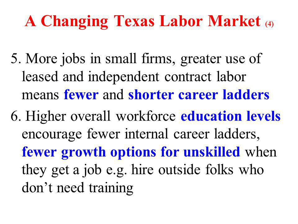 A Changing Texas Labor Market (4) 5.