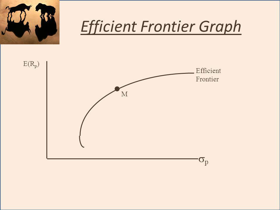 Efficient Frontier Graph E(R p ) p M Efficient Frontier