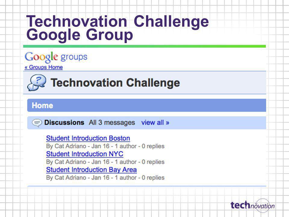 Technovation Challenge Google Group