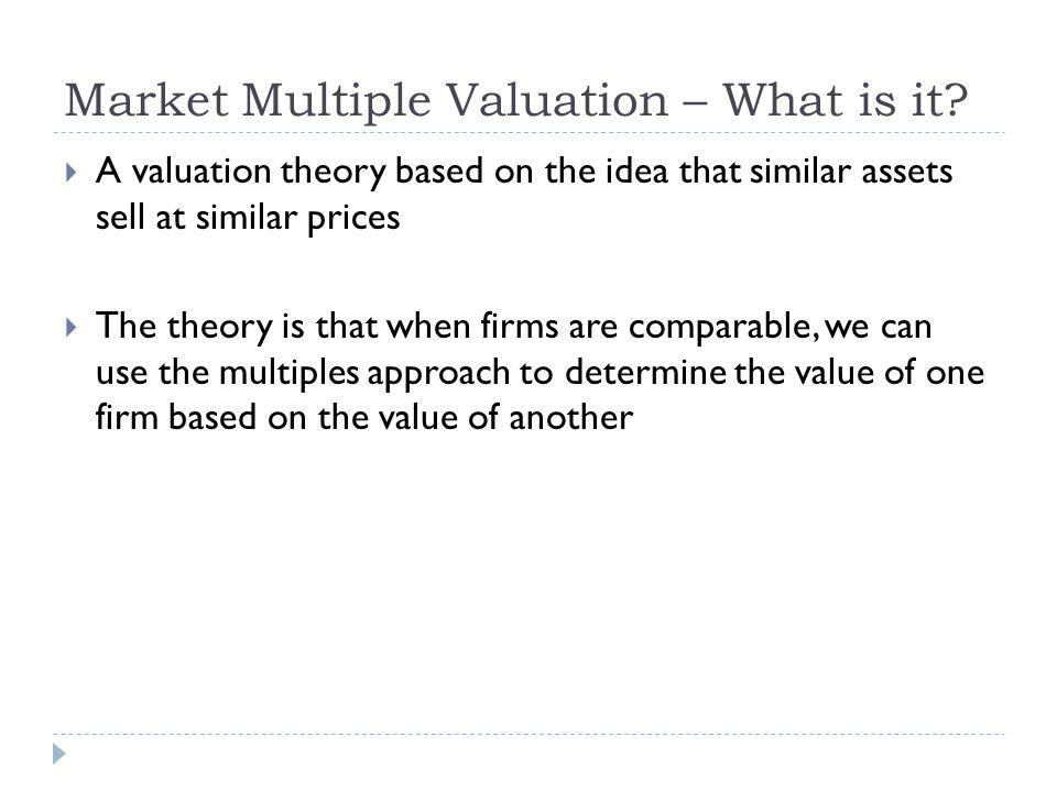 Market Multiple Valuation – What is it.