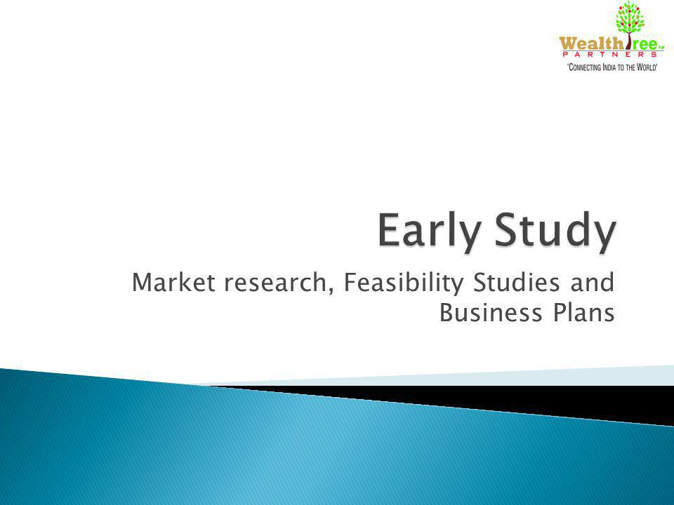 Market research, Feasibility Studies and Business Plans
