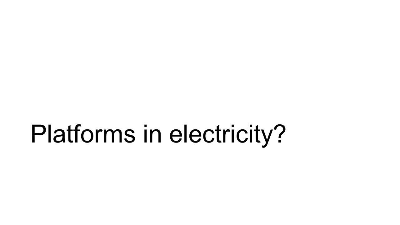Platforms in electricity?