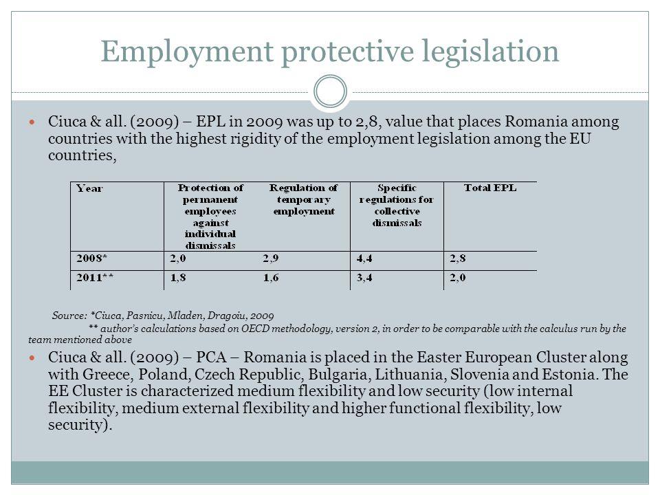Employment protective legislation Ciuca & all.