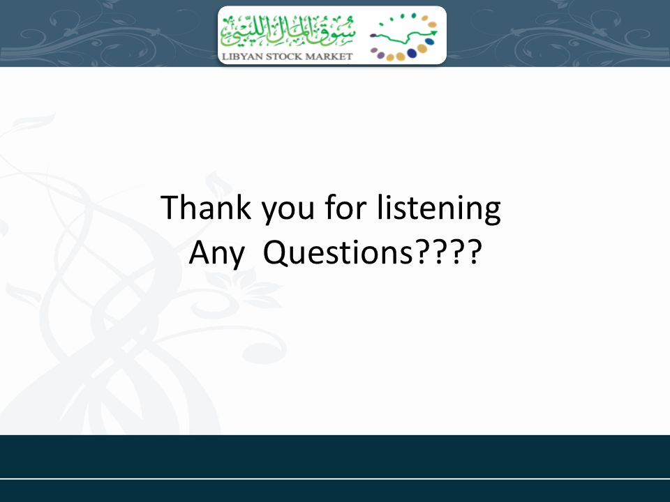 Thank you for listening Any Questions????