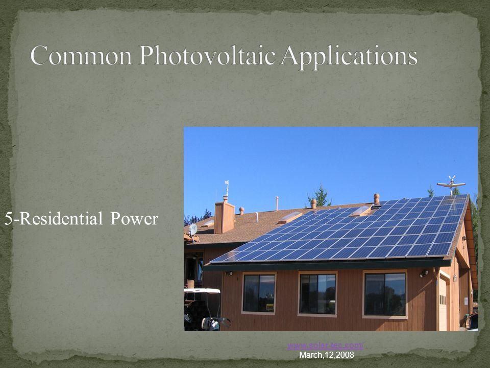 5-Residential Power www.solar-tec.com/ March,12,2008