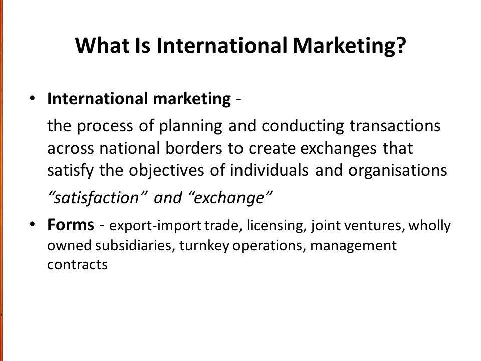What Is International Marketing.