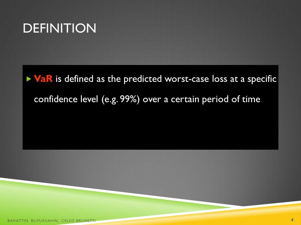 VAR: CAVEATS VAR is measured with some error The VAR number itself is subject to normal sampling variation.