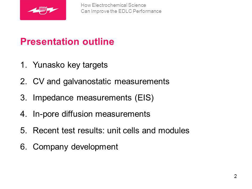 Conclusions 1.Electrochemical methods are a powerful instrument to show a way to SC improvements.