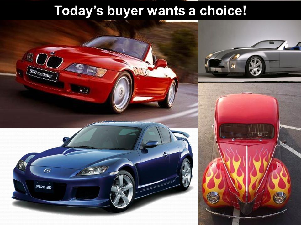 Todays buyer wants a choice!