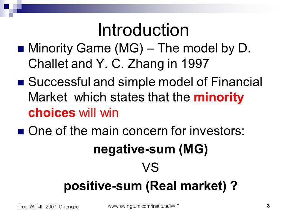 www.swingtum.com/institute/IWIF24 Proc IWIF-II, 2007, Chengdu Transaction Cost (% of P(t))+ Evolution Positive gain for Investors and Market maker !.