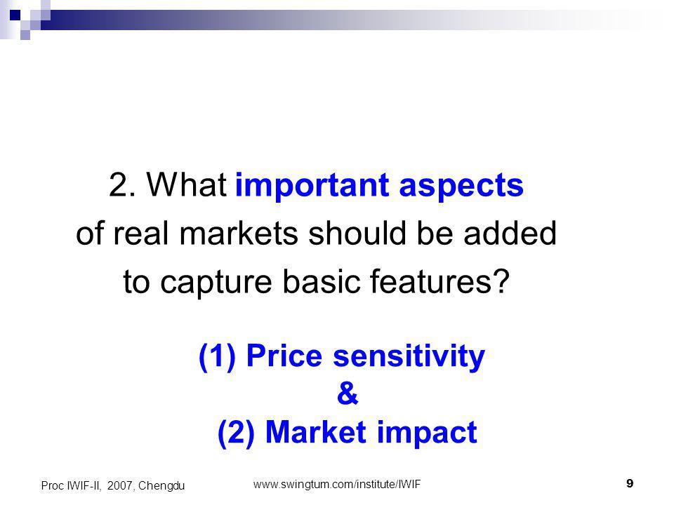 www.swingtum.com/institute/IWIF10 Proc IWIF-II, 2007, Chengdu What are price sensitivity and market impact.