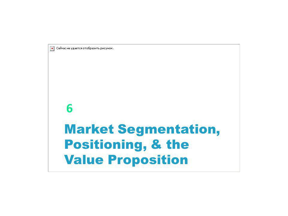 Market Segmentation, Positioning, & the Value Proposition 6