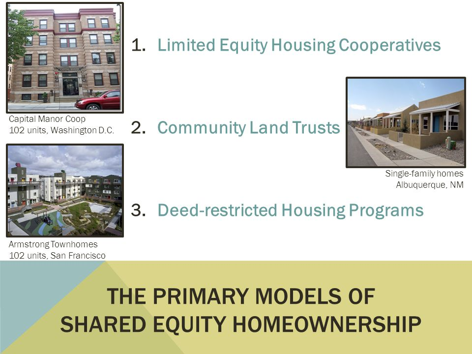 1.Limited Equity Housing Cooperatives Capital Manor Coop 102 units, Washington D.C.