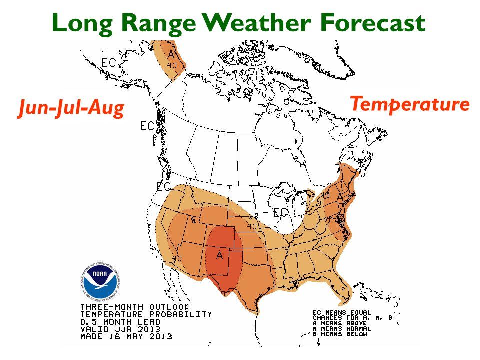 Long Range Weather Forecast Jun-Jul-Aug Temperature